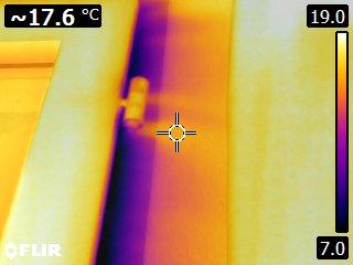 MG énergie - Thermographie du bâtiment - images thermiques - Infiltrations d'air
