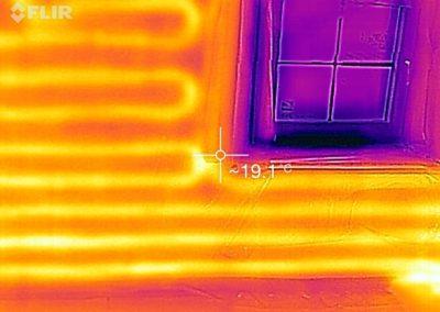 MG énergie - Thermographie du bâtiment - images thermiques - Chauffage mural